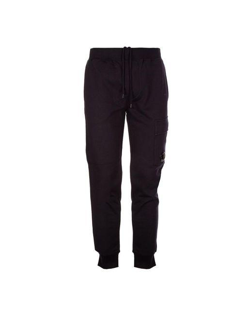 Trousers di C P Company in Black da Uomo