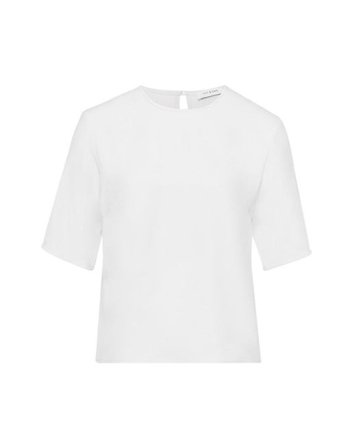 IVY & OAK Top Met Korte Mouwen in het White