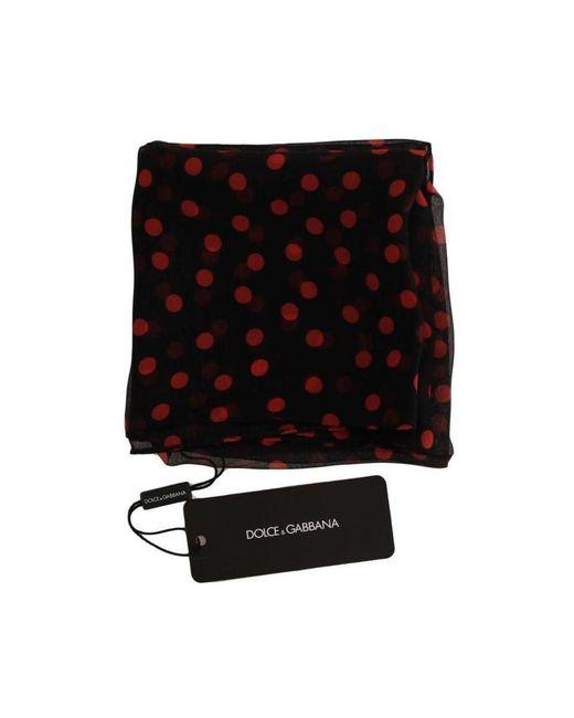 Dolce & Gabbana Polka Gestippelde Scarf in het Black