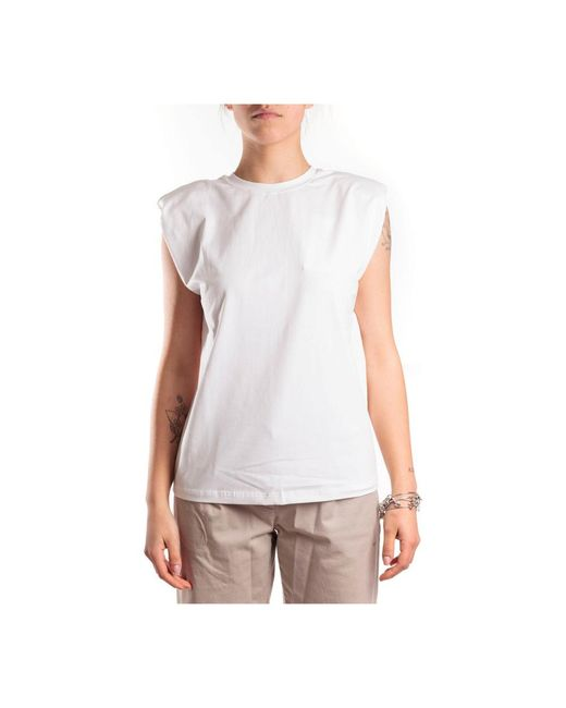 Alpha Industries Maglia, Girocollo, Con Spalline. in het White