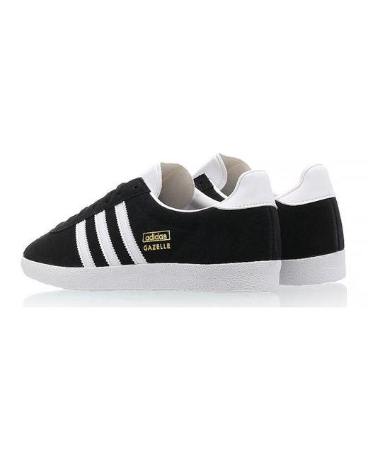 Gazelle OG Core Noir, Blanc & Or Métallisé adidas pour homme en ...