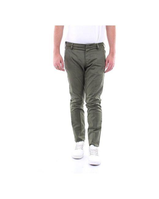 Entre Amis P208201238l17 Regular Trousers in het Green voor heren