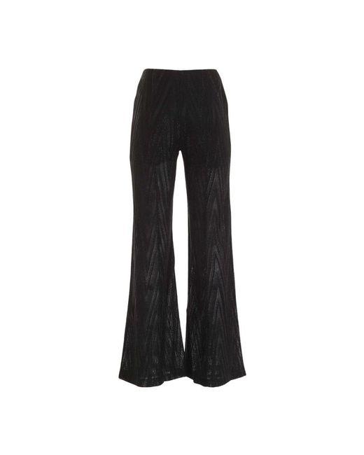 Pantalone palazzo lamè zig zag di A.P.C. in Black