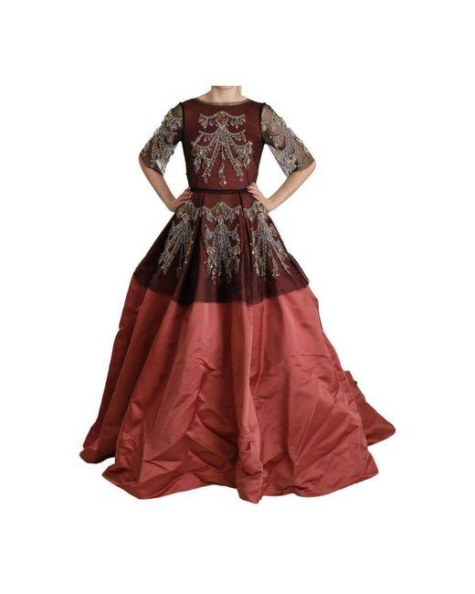 Princess Dress di Dolce & Gabbana in Red