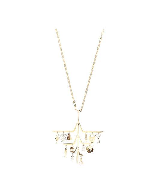 Necklace with detachable charm Lanvin en coloris Yellow