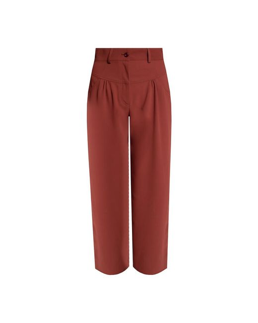 Gathered trousers di See By Chloé in Brown