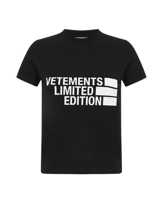 Vetements T-shirt in het Black