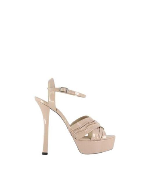 Grey Mer Natural Heeled sandals with platform