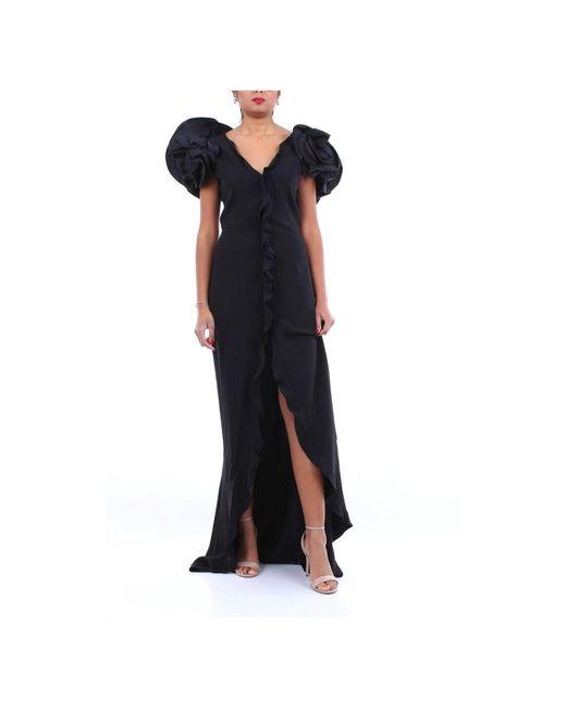 Alessandra Rich Fab2091f2015 Long Dress in het Black