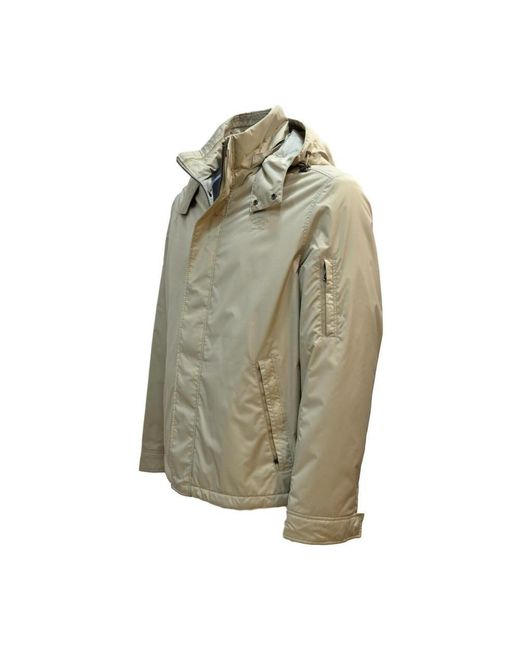 Tamaño chaqueta con capucha Beige Paul & Shark de hombre de color Natural