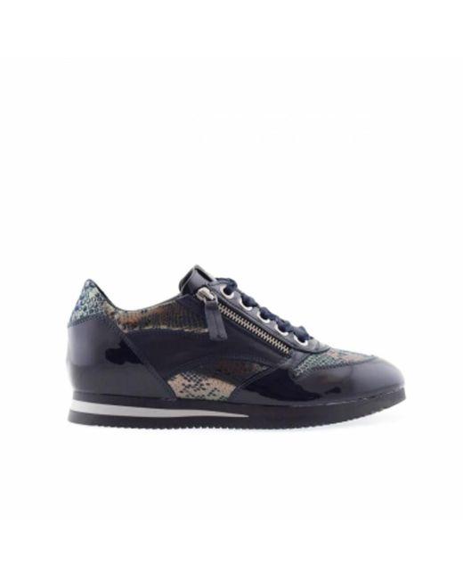 DL SPORT® 4883 Dames Sneakers Blauw in het Gray
