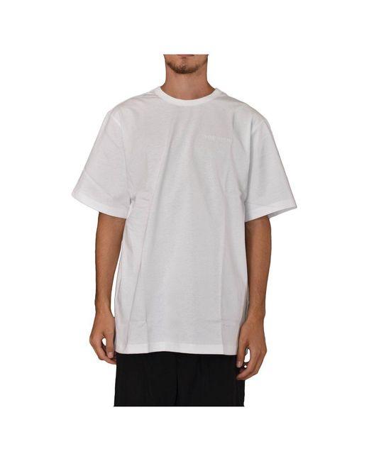 Juun.J T-shirt Girocollo Con in het White voor heren