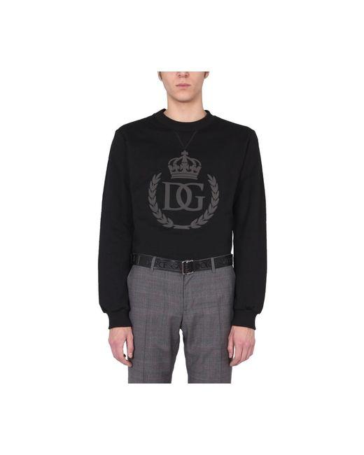 Dolce & Gabbana Crew Neck Sweatshirt in het Black voor heren