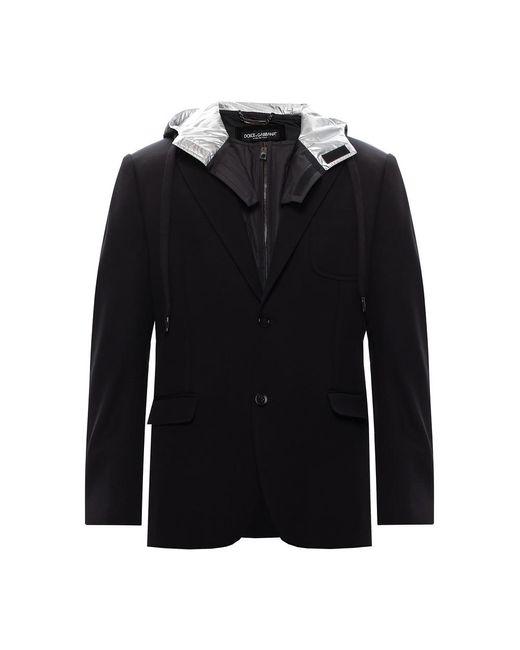 Giacca con fodera staccabile di Dolce & Gabbana in Black da Uomo
