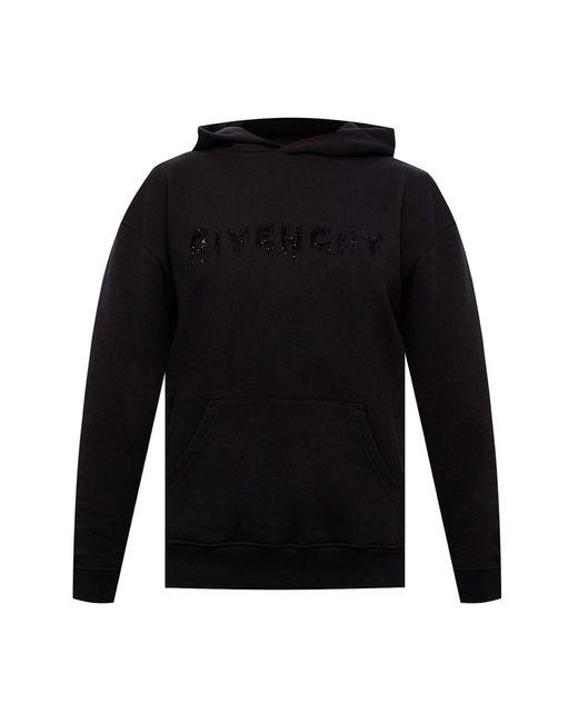 Givenchy Logo Hoodie in het Black