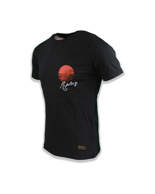 T-Shirt Imprimé Tigre Negro Replay de hombre de color Black