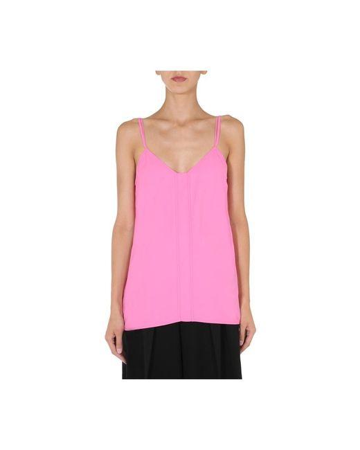 Bottega Veneta Top Met V-hals in het Pink