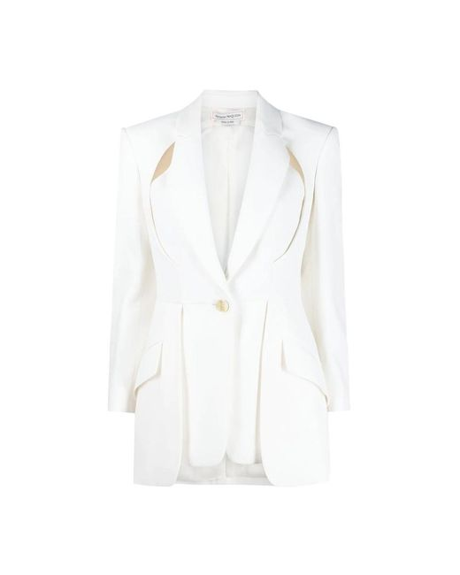Alexander McQueen Jacket in het White