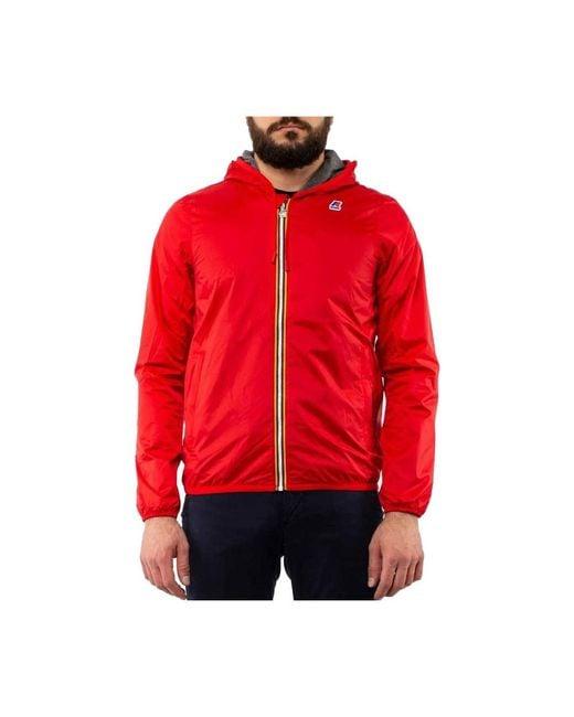Jacques Nylon Jersey Jacket K-Way pour homme en coloris Rouge - Lyst