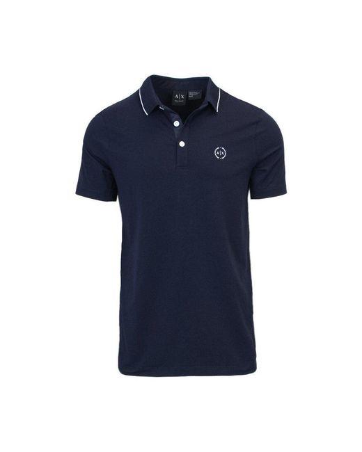 Armani Exchange Polo Shirt in het Blue voor heren