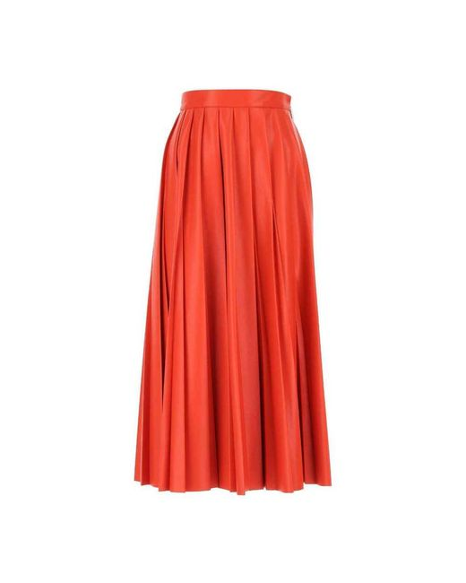 Skirt di MSGM in Red