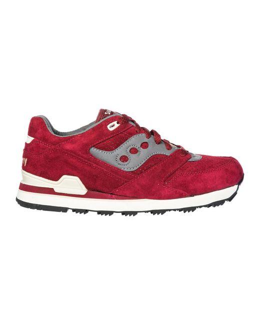 Saucony Men's Shoes Suede Trainers Sneakers Courageous in het Red voor heren
