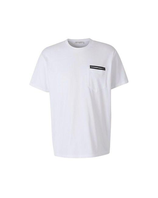 Givenchy Logo Pocket T-shirt in het White voor heren