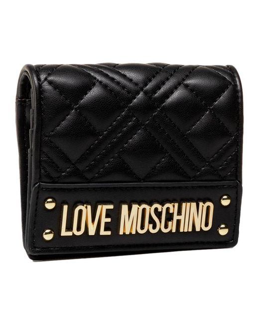 Quilted Nappa Wallet Jc5601Pp1Cla0000 Love Moschino en coloris Black