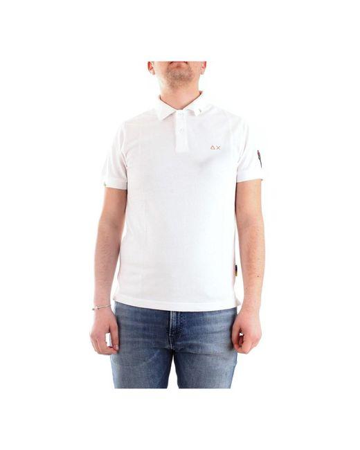 A30131 Short sleeves Men White di Sun 68 da Uomo