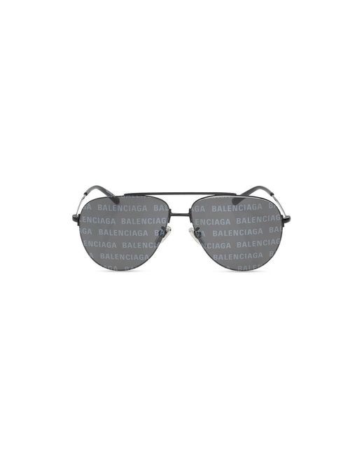 Balenciaga Sunglasses With Logo in het Black voor heren