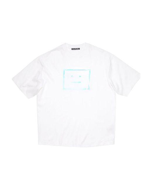 Acne T-shirt in het White
