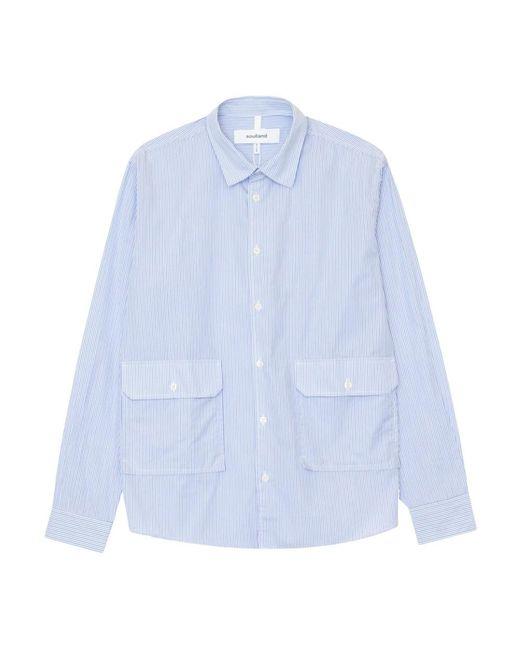 Soulland Niel Shirt in het Blue voor heren