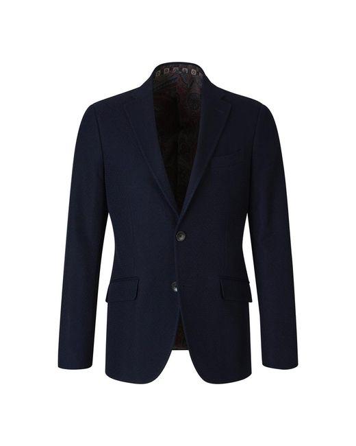 Etro Texture Blazer in het Blue voor heren