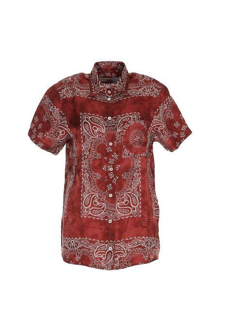 Camisa Rojo Golden Goose Deluxe Brand de color Red