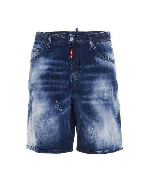 DSquared² Shorts in het Blue voor heren
