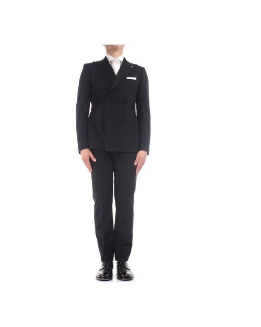 Tagliatore Sfbr10a0133uez009 N3458 Elegant Suit in het Black voor heren
