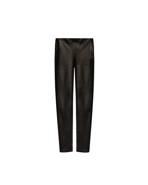 Pantaloni di pelle di Samsøe & Samsøe in Black