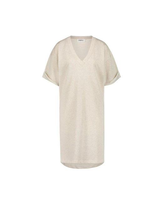 Deem soft jurk Simple en coloris Natural