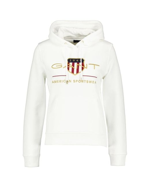Archive chield hoodie Gant en coloris White