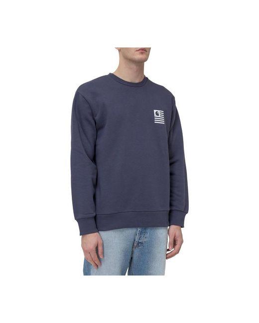Carhartt WIP Sweater With Crewneck in het Blue voor heren