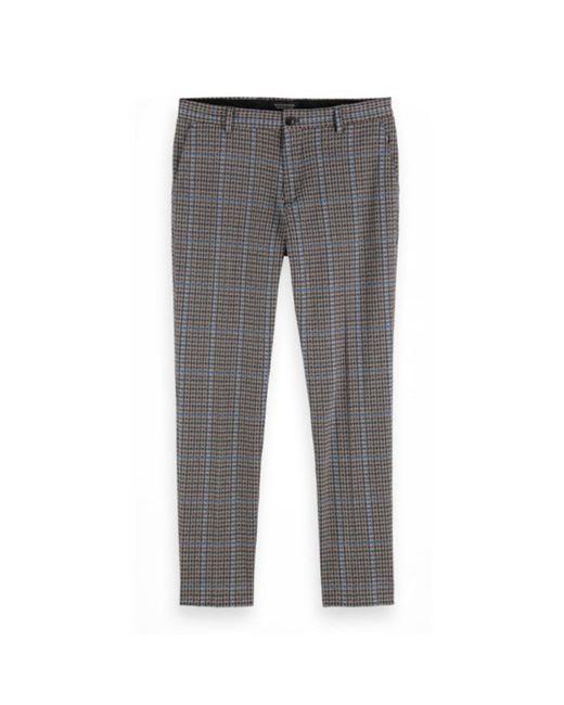 Scotch & Soda Pantalon Geruit in het Gray voor heren