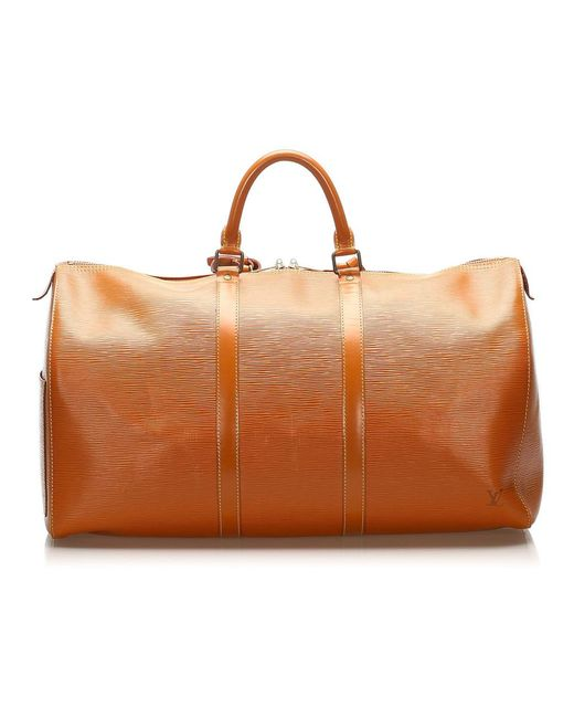 Epi Keepall 55 in pelle di Louis Vuitton in Brown
