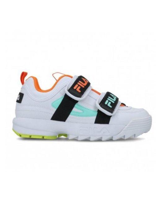 Fila White Multicolor Sneakers