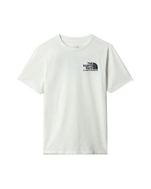 The North Face T-shirt in het White voor heren
