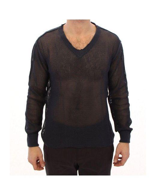 Dolce & Gabbana Runway Netz Pullover Gesaldeerde Sweater in het Blue voor heren