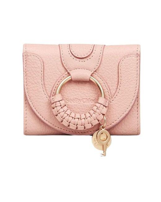 Portefeuille à trois volets Hana See By Chloé en coloris Pink