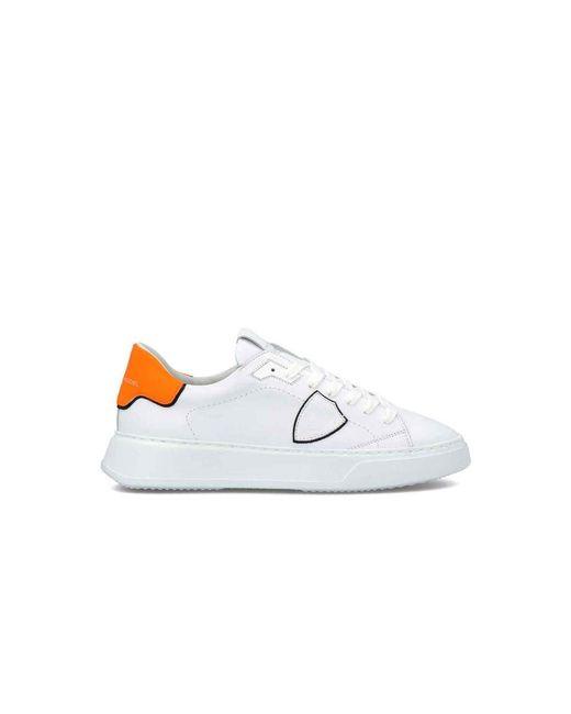 Philippe Model Scarpe Temple Low Sneakers Btlu-vn12 in het White voor heren