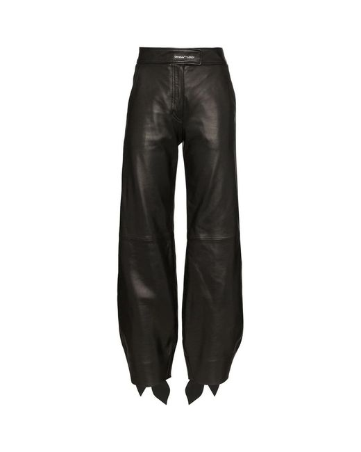 Off-White c/o Virgil Abloh Black Leather BOW Track Pants