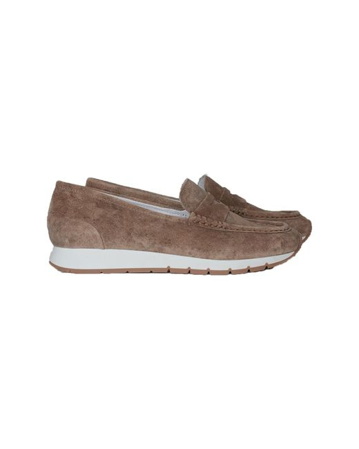 Via Vai Loafer Ruby Leeds 5202008 Taupe/beige Suède Sobral Avola in het Brown