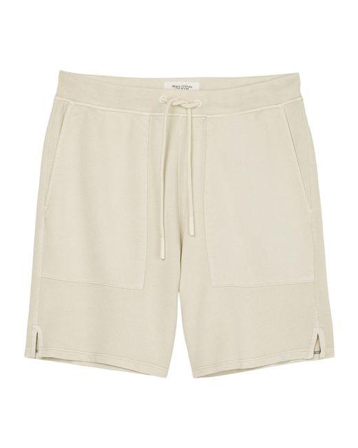 Marc O'polo Sweat Shorts in het Natural voor heren